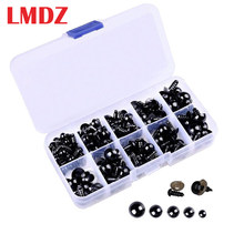 LMDZ 100Pcs 6-12Mm Boneka DIY Mata Hitam Kerajinan Plastik Keselamatan Mata untuk Teddy Bear Soft Toy animal Doll Hama Beads DIY Aksesoris(China)