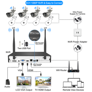 Image 2 - H.265 8CH 1080P Wireless NVR Kit Security CCTV System Audio Sound 2MP Outdoor WiFi IP Camera P2P Video Surveillance Set 2TB HDD