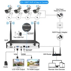 Image 2 - H.265 8CH 1080P kablosuz NVR kiti güvenlik CCTV sistemi ses ses 2MP açık WiFi IP kamera P2P Video gözetim seti 2TB HDD