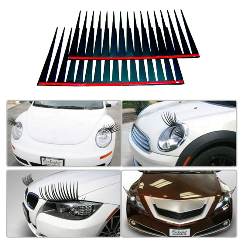 Headlight Eyelash Car 3D Cute Sticker Eyelashes Car False Eyelashes Sticker Eye Patch Car Accessories