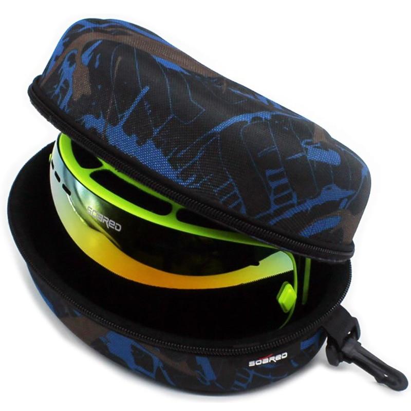 Adult Children Snow Ski Eyewear Case Water Resistant Portable Snowboard Skiing Goggles Sunglasses Carrying Case Zipper Hard Box