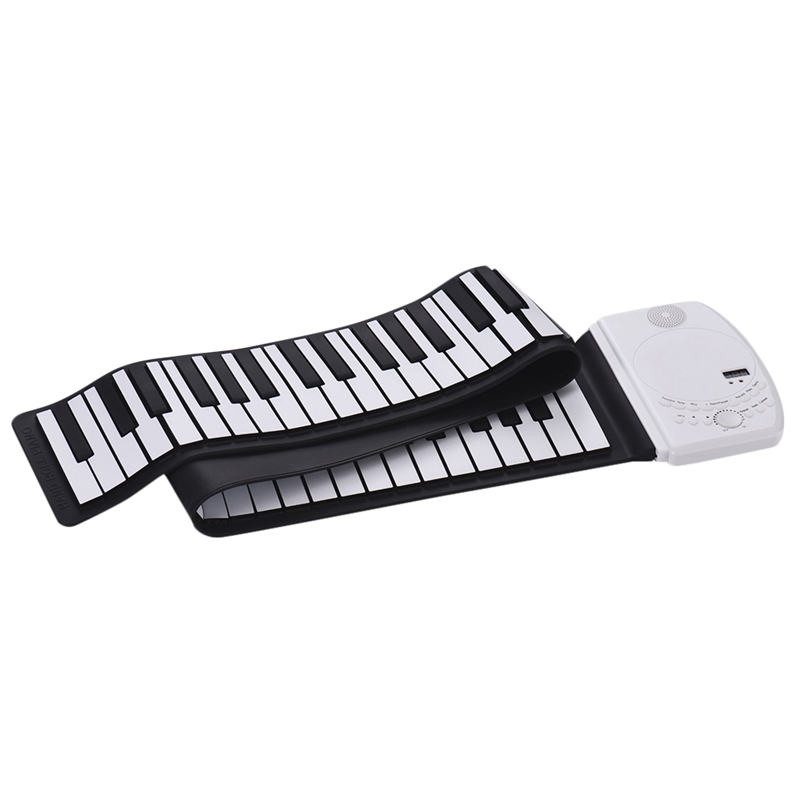 Portable 61 Keys Roll Up Piano Digital Keyboard Piano Soft Silicone Electronic Keyboard Recharge Battery Standard Piano Tone