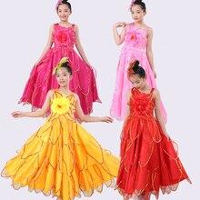 В году, детские юбки для фламенко испанский танец фламенко для девочек, испанский сценический хор, нарядное платье праздничный костюм от 100 до 160 см DL5147
