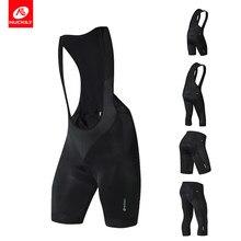 Nuckily preto bib shorts verão calças de ciclismo 3d almofada gel mtb bicicleta calças ciclismo wear calças curtas dos homens ao ar livre
