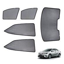สำหรับ TOYOTA COROLLA ซีดาน 2014 แม่เหล็กรถหน้าต่าง Visor ด้านหลัง Windows ผ้าม่านกระจก Sunshades พับ Easy Storage