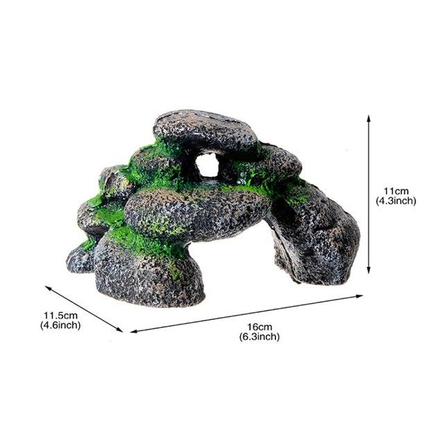 Rock Cave Aquarium Landscape Fish Tank Stones 6
