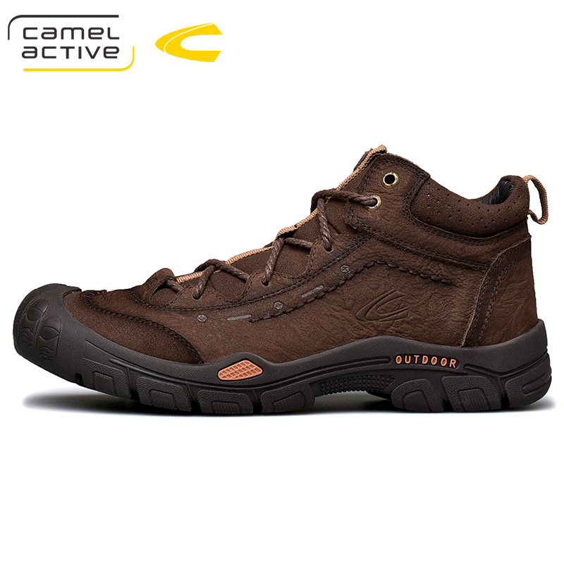 New Brown Fashion Fall And Winter 2020 High Top Shoes Sewing Non Slip Leather Shoes Men's Leather Outdoor Shoes Tooling Shoes