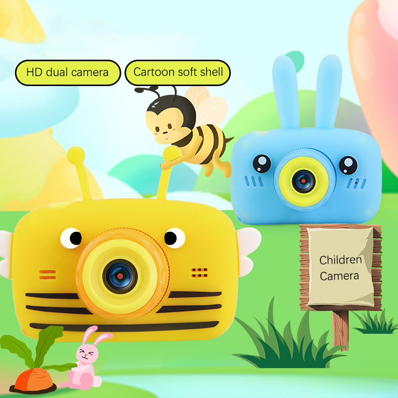 Children's Camera Waterproof 1080P HD Screen Camera Video Toy Kids Cartoon Cute Camera Outdoor Photography Game Study Camera