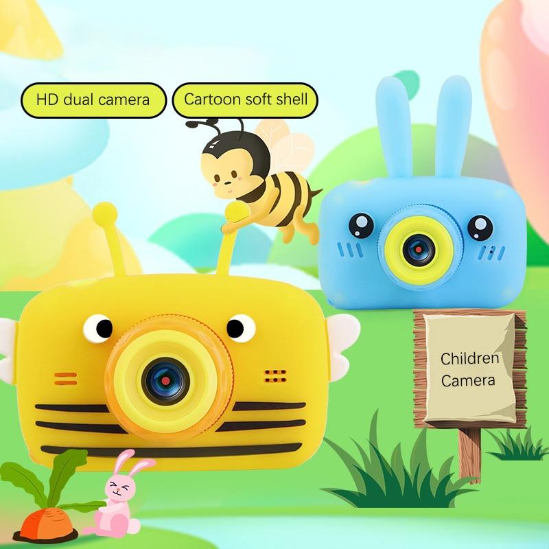 Children's Camera Waterproof 1080P HD Screen Camera Video Toy Kids Cartoon Cute Camera Outdoor Photography Game Study Camera