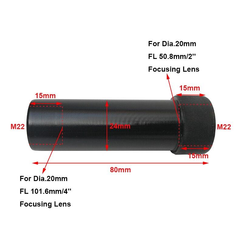 1 шт. CO2 лазерная головка для объектива трубка с воздушным соплом Диаметр объектива 20 мм Регулировка фокусного расстояния 50,8 мм и 101 мм CO2