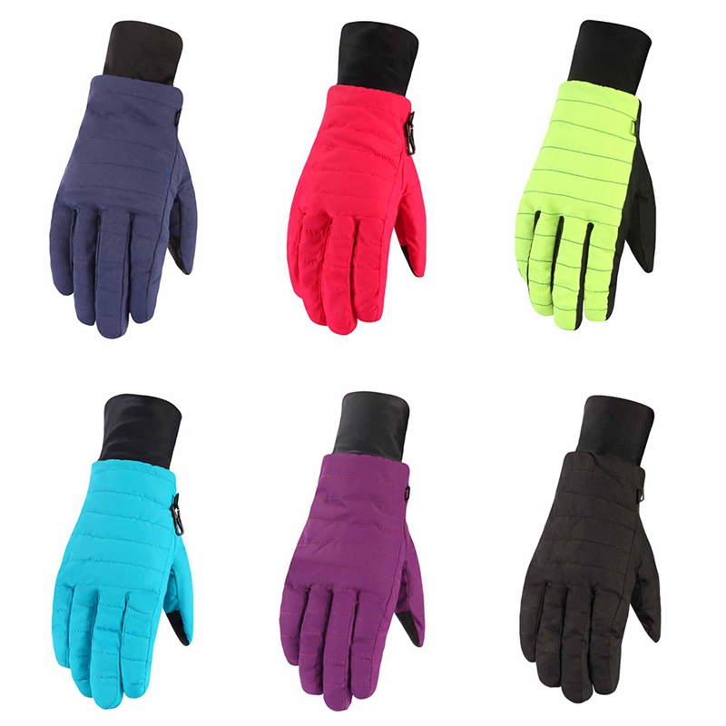 Winter Women Full Finger Thicken Skiing Gloves Water Cold Resistant Thermal Cycling Gloves Women Outdoor Sportswear 6 Colors