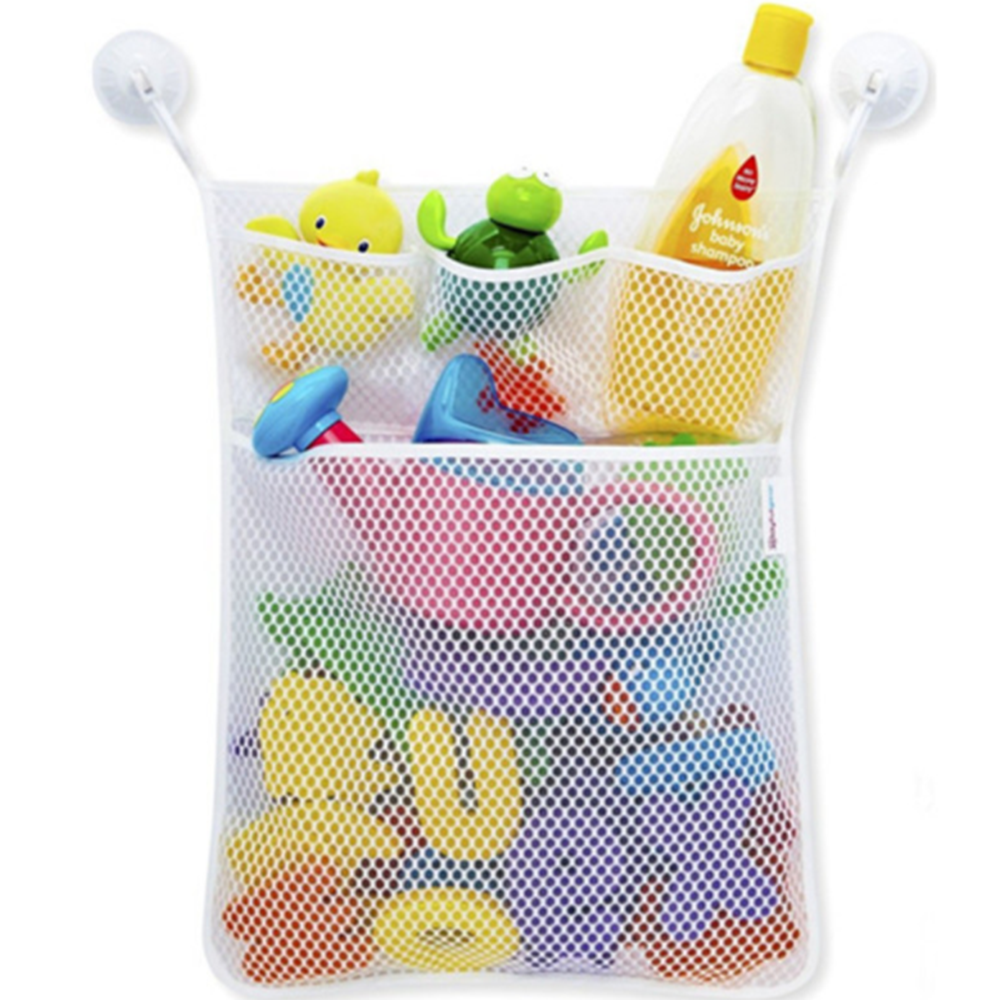 Baby Bath Toy Storage Bag with Suckers Mesh Net Bag for Toys Baby Toys Organizer Holder Children Water Toys Accessaries 45*35cm