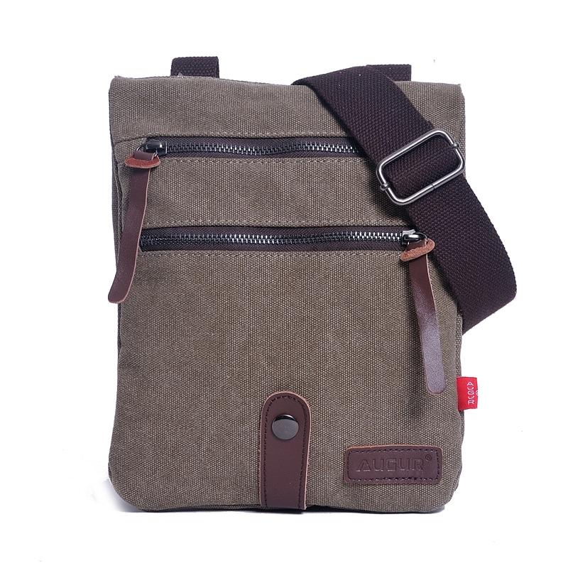 Men Shoulder Bag Canvas Crossbody Shoulder Pack Retro Casual Office Travel Bag Business Messenger Bags