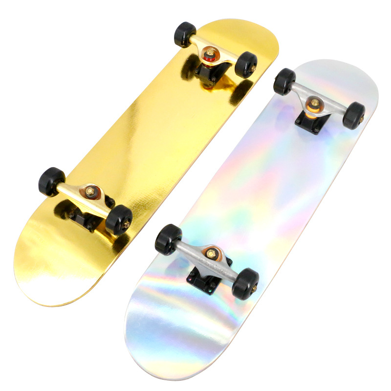 Professional Skateboard Double Alice Laser Advanced Four Wheel Skateboard Adult Boys And Girls Brush Street Highway