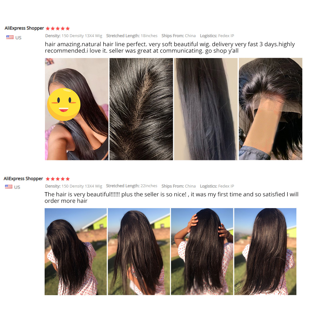 13x4 Lace Front  Wigs  Straight Lace Wigs Pre Plucked 4x4 Lace Closure Wigs With Baby Hair 5