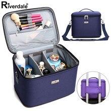 Grande capacidade compõem casos multi função artista profissional beleza maquiagem organizador para cosméticos saco caixa de armazenamento viagem