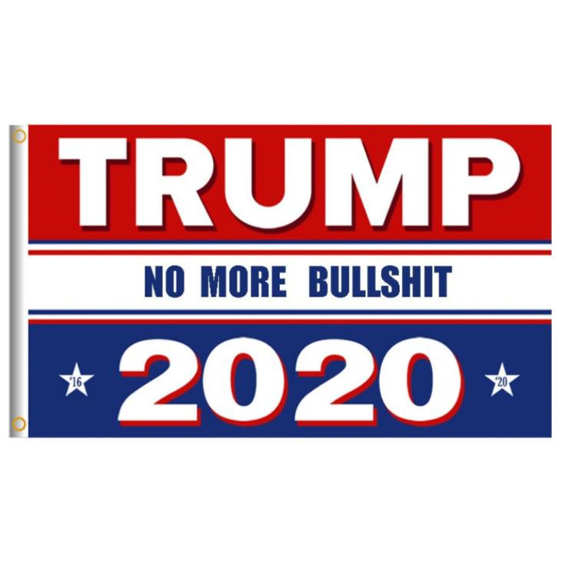 200pcs Trump 2020 <font><b>Flag</b></font> Print Keep America Great Banner President USA American Election No More Bullshirt Donald <font><b>Flag</b></font> <font><b>90x150cm</b></font> image