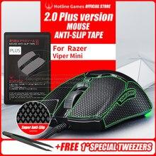Holtine Games Fita antiderrapante do aperto do rato de 2.0plus para o razer viper mini, atualização do aperto, absorção da umidade, pré corte, fácil de aplicar
