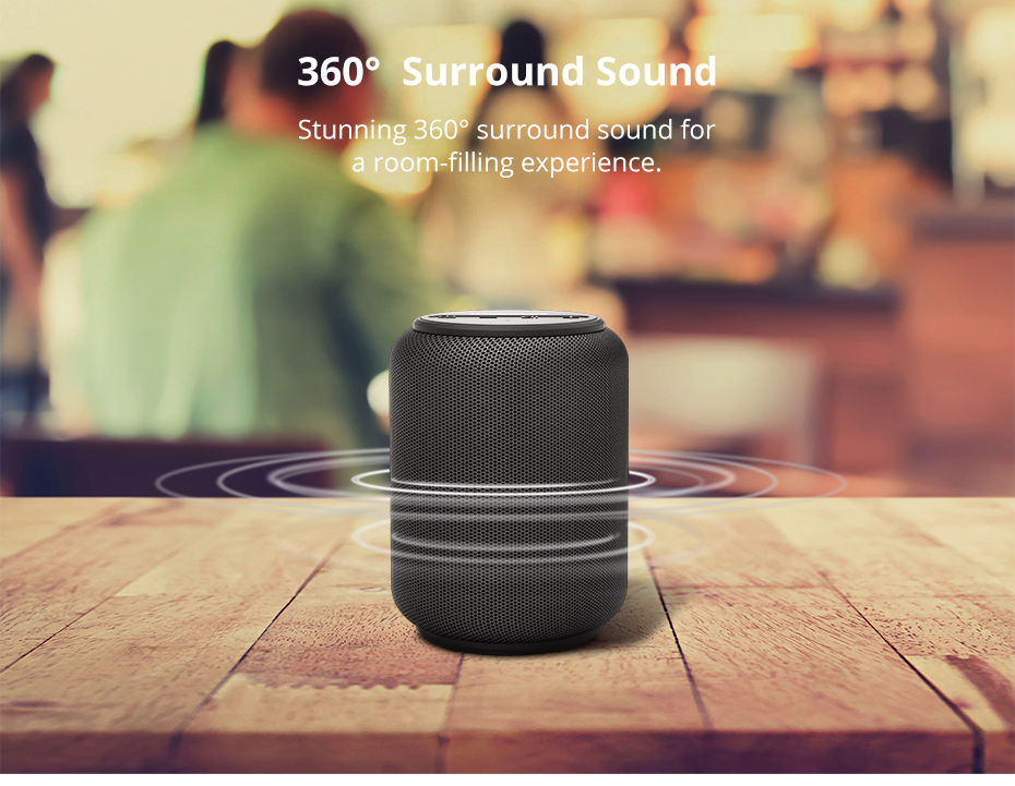 Tronsmart T6 Mini Bluetooth Speaker TWS Speakers IPX6 Waterproof Wireless Bluetooth 5.0 Speaker 24 Hours Play-time Portable Speaker with 360 Degree Surround Sound, Voice Assistant (4)