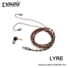 DUNU LYRE High Purity OCC Copper Upgrade Cable,Original Cable of DK3001 Pro,with Catch Hold MMCX Connector,2.5/3.5/4.4mm