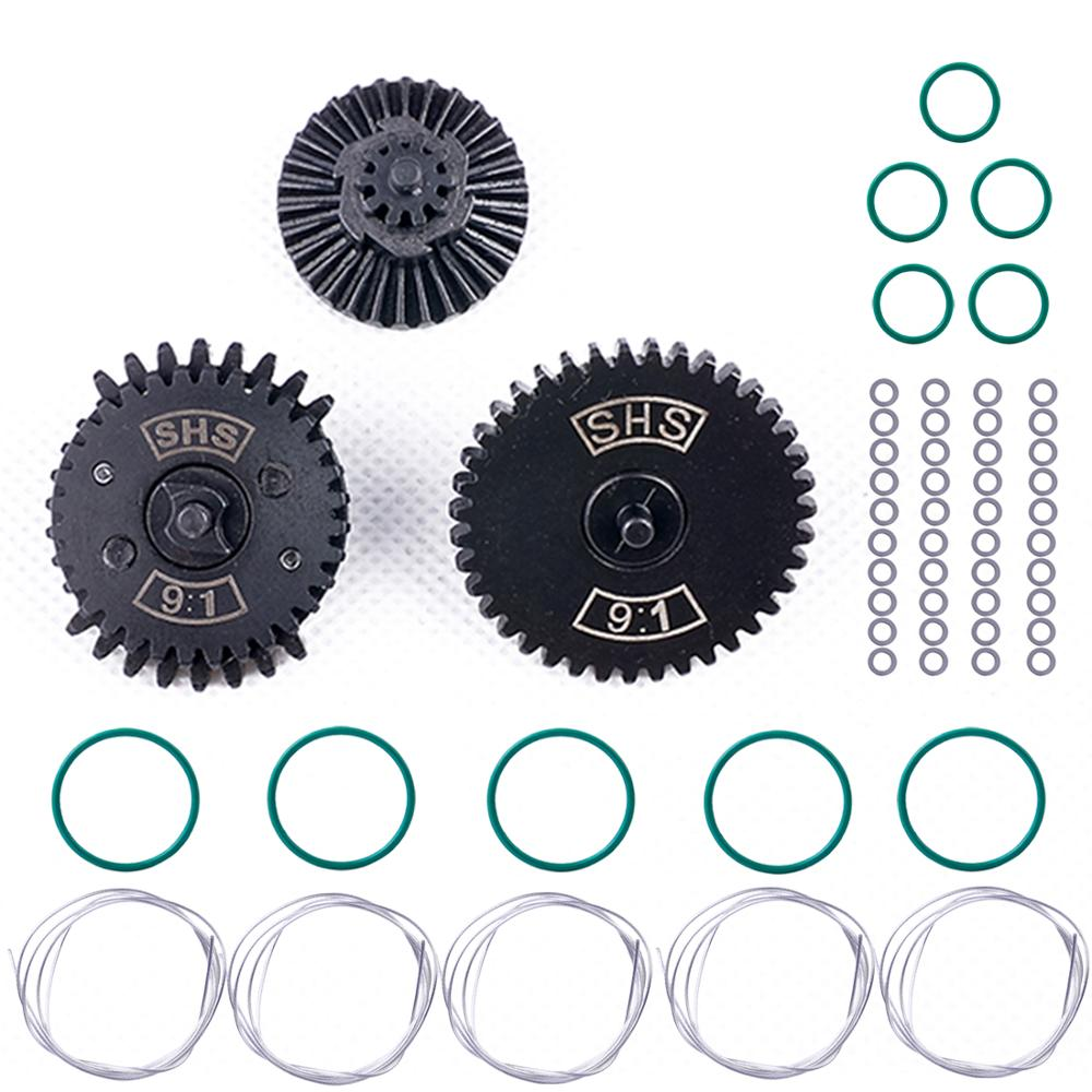 MODIKER SHS 9:1 High Speed Gear Set With 5m 0.75 Wire Diameter Silver-plated Wire Airtight O Ring For Airsoft Gearbox