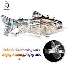 Рыболовная приманка, электрическая приманка, воблеры для рыбалки, 4-разъемная приманка для плавания, кренкбейт, USB, перезаряжаемая мигающая Светодиодная лампа для рыбалки