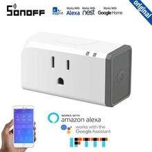 Sonoff s31 eua 16a wi fi inteligente interruptor soquete app temporizador monitor de energia automação residencial trabalho com ewelink alexa inicial do google