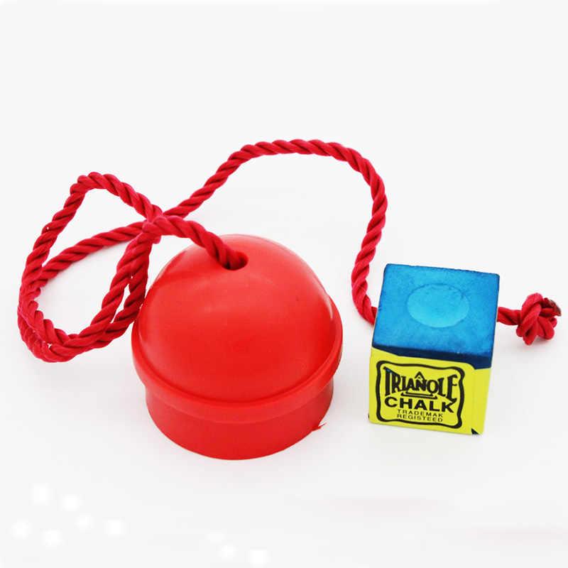Резиновый бильярдный мел держатель красный цвет бассейн мела для кия с веревкой