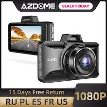 AZDOME M01 Pro Dash kamera 3 inç 2.5D IPS ekran araba dvrı kaydedici Full HD 1080P araba Video kaydedici Dashcam dash kamera kayıt