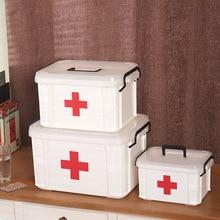 First Aid Kit Medicine Chest Holder Storage Box Multi-layer Emergency Kits Cabinet Security Safety Home Rangement Organizer