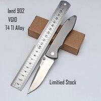 Land 902 Outdoor Armee Folding Messer VG10 Edelstahl TC4 TI Legierung Griff mit Tasche Clip für Camping und Überleben-in Outdoor-Werkzeuge aus Sport und Unterhaltung bei