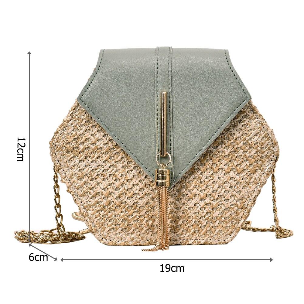 แฟชั่นหกเหลี่ยม Mulit สไตล์ + กระเป๋า pu กระเป๋าถือผู้หญิงฤดูร้อนกระเป๋าหวาย 5