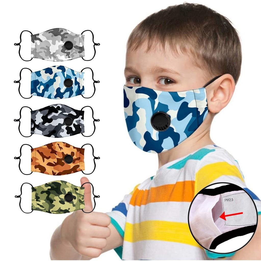 Enfants masque lavable réutilisable étudiant enfants bouche enfant masques de visage en plein air humain visage protecteur poussière masques masque enfant