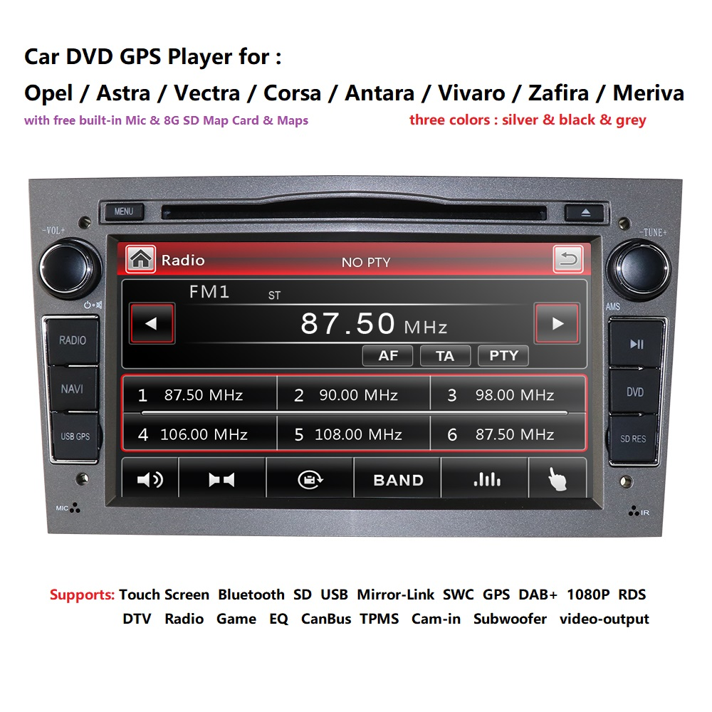 2 DIN Auto-DVD-Stereo Für Vauxhall Opel Astra H G Vectra Antara Zafira Corsa WINCE Auto DVD GPS Navi lenkrad RDS TV CAM TUPFEN
