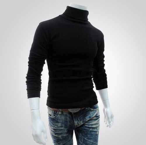 새로운 남성 슬림 따뜻한 높은 목 풀오버 점퍼 스웨터 탑 스웨터 셔츠 옷