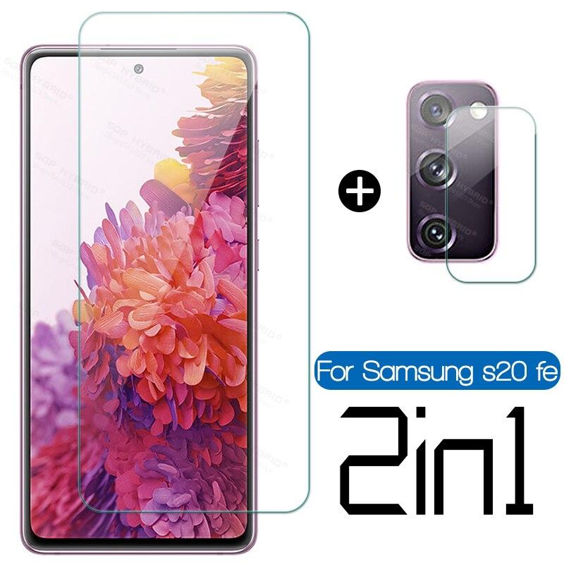 Закаленное стекло 2 в 1 для Samsung Galaxy S20 FE 5G, защитная пленка для камеры Galaxy s20fe s 20 fe 5g Light HD, стекло с полным покрытием