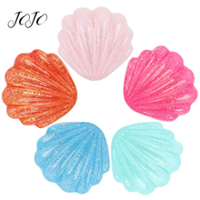 JOJO BOWS 5pcs Shell Resin Accessories For DIY Craft Supplies Phone Case Sticker Apparel Decoration Patches Hanging Ornament