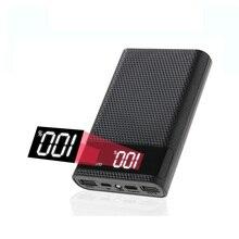 חדש 15000mAh כוח בנק מקרה נייד טלפון תשלום DIY 4x18650 סוללה תיבת אחסון עם Dual USB סוג C מיקרו USB ללא סוללה