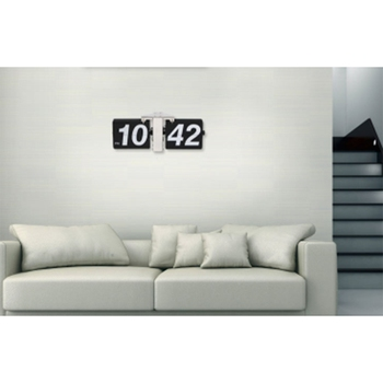 Brief Stylish Big Character Automatic Flip Clock Classic Home Office Furnishings Clock