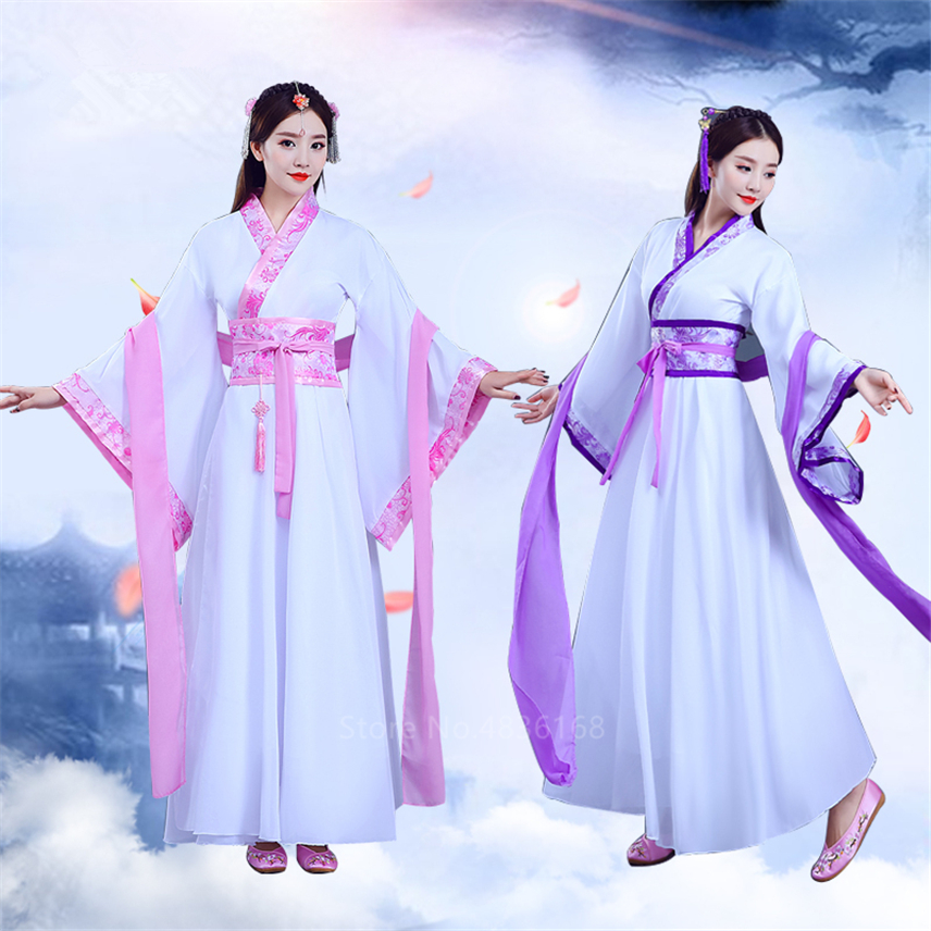 New Year Hanfu <font><b>Women</b></font> Traditional Chinese Folk Dance Fairy Dress Court Vintage Princess <font><b>Festival</b></font> <font><b>outfit</b></font> Ancient Costumes image