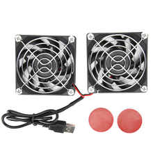 5V USB Power Kühlung Dual-Fan Router Wärmeableitung Kühler Lüfter für ASUS RT-AC68U AC86U EX6200 Tengda AC15 70x7 0x 15mm