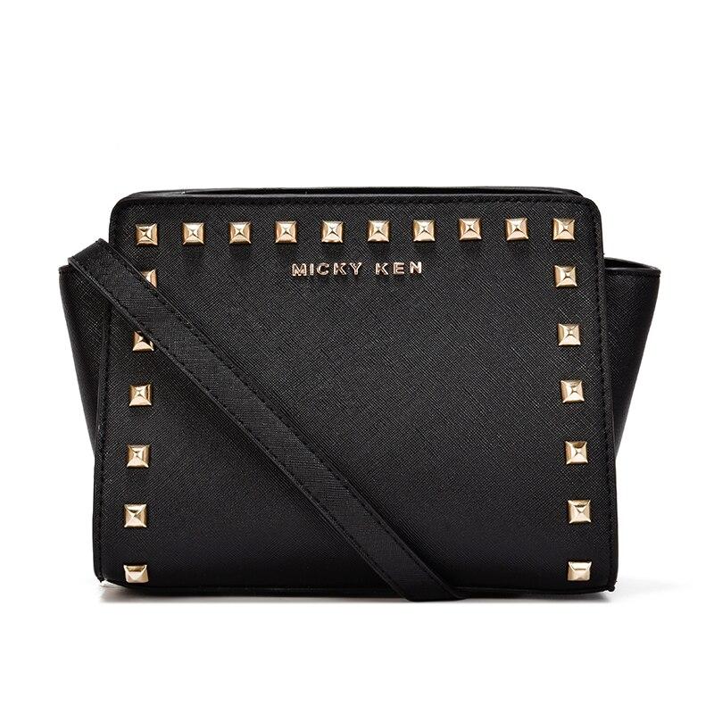 2019 Women Bag Designer Vintage Fashion Women Messenger Bags Rivet Shoulder Bag PU Leather Shopping Handbag Crossbody Bags