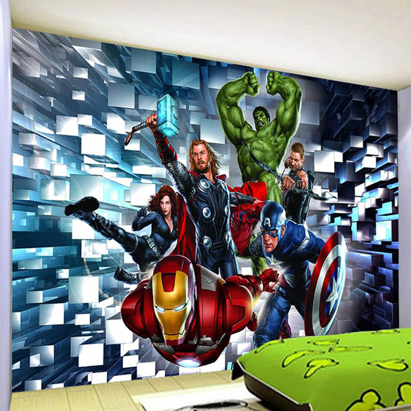 3D Wallpaper Modern Cartoon Children's Bedroom Murals Boys Kids Bedroom Self-Adhesive Waterproof Wall Stickers Home Decor Poster