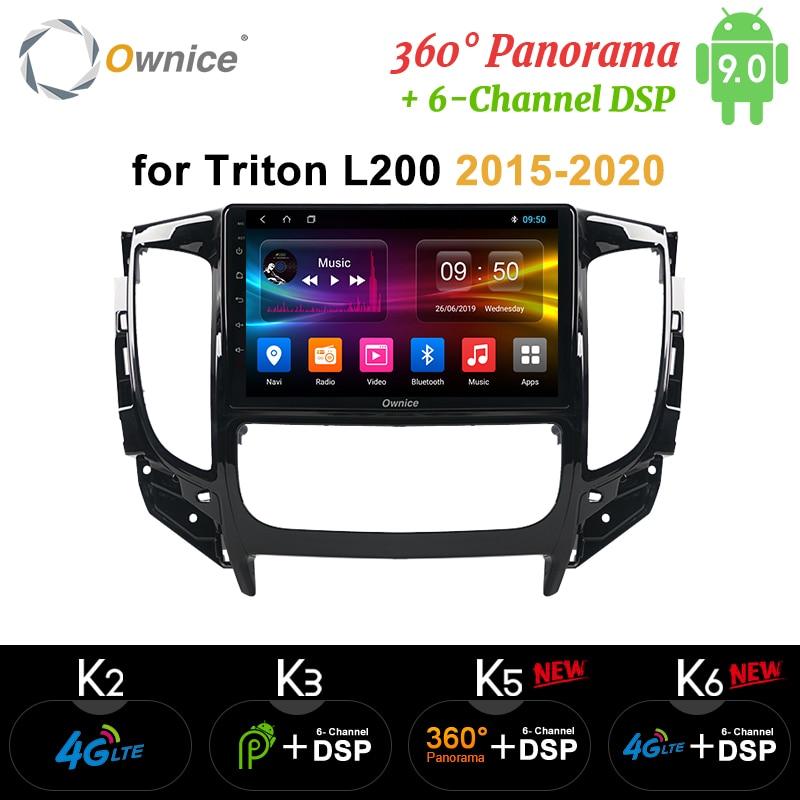 Ownice k3 k5 k6 Android 9.0 Car Radio Dvd Player For Mitsubishi Triton L200 DSP 4G LTE Car Radio GPS Navi 8Core 2016 2017 2018Car Multimedia Player   -