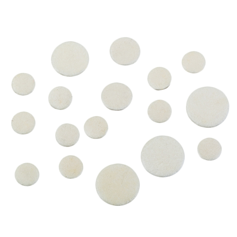 17Pcs/Set Leather Clarinet Replacement Pads 17.3mm 15.1mm 12mm 10mm White Woodwind Instruments Part & Accessories