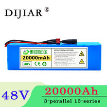 DiJiar 48V 20AH 18650 13S3P high power 800W electric bicycle battery electric bicycle battery 48V20ah lithium battery with BMS