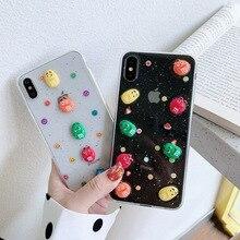 Cute Cartoon Glitter Phone Case For iphone