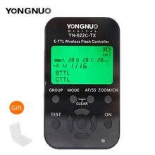 Yongnuo YN 622C TX YN622C TX wyświetlacz LCD bezprzewodowy e TTL Flash kontroler 1/8000s nadajnik wyzwalacza błysku dla Canon lustrzanki cyfrowe