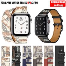 For Apple Watch Band 5 4 3 2 1 Herm Logo Genuine Leather iWatch Bracelet Strap Bands for Apple Watch Band 44mm 40mm 42mm 38mm cheap iBuying 20cm Watchbands New without tags Genuine leather loop Strap for apple watch 4 3 2 1 40mm 44mm Pin buckle For Apple Watch Series 5 4 3 2 1