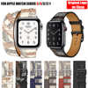 For Apple Watch Band 5 4 3 2 1 Herm Logo Genuine Leather iWatch Bracelet Strap Bands for Apple Watch Band 44mm 40mm 42mm 38mm